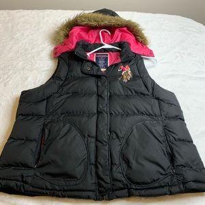 U.S. Polo Assn. Puffer Vest Full ZIP & Button Up
